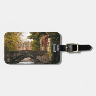 Bruges, Belgium Canals Bag Tag