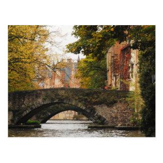 Bruges, Belgium Canals Postcard