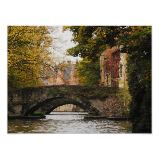 Bruges, Belgium Poster, Canal Travel Poster