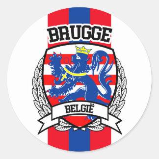 Bruges Classic Round Sticker