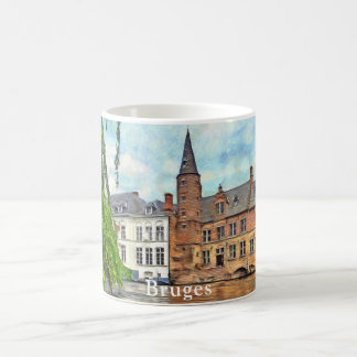 Bruges is a town located on canals coffee mug