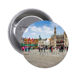 Bruges Market Place Photograph Pin