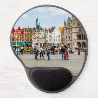 Bruges Market Place Photograph Gel Mouse Pads