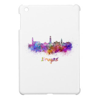 Bruges skyline in watercolor cover for the iPad mini