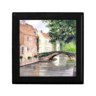 Bruges Watercolor Painting by Farida Greenfield Gift Box
