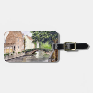 Bruges Watercolor Painting by Farida Greenfield Luggage Tag