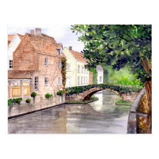 Bruges Watercolor Painting by Farida Greenfield Postcard