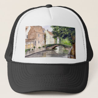 Bruges Watercolor Painting by Farida Greenfield Trucker Hat