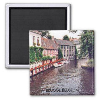 BRUGGE BELGIUM SQUARE MAGNET