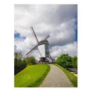 Brugge Windmill Postcard