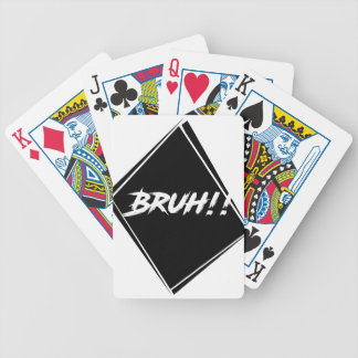 """Bruh"" Word Design Bicycle Playing Cards"