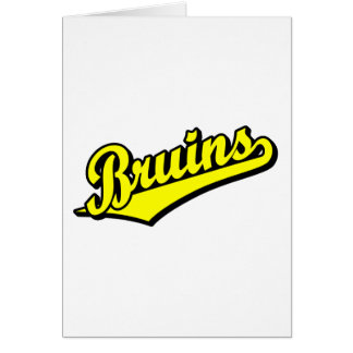 Bruins in Yellow Card