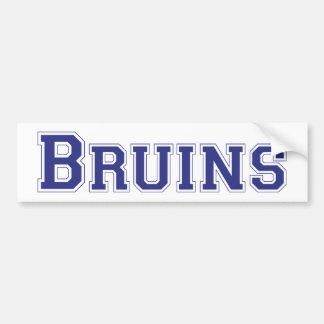 Bruins square logo in blue bumper stickers
