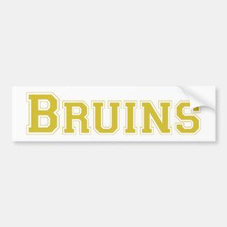 Bruins square logo in gold bumper stickers