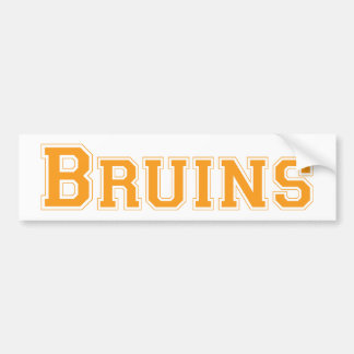 Bruins square logo in orange bumper sticker
