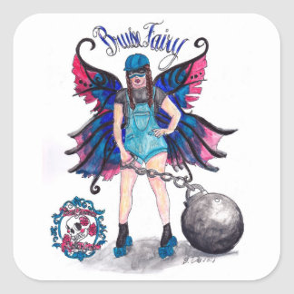 Bruise Fairy Square Stickers