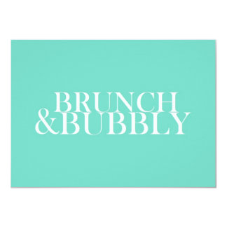 Brunch And Bubbly 11 Cm X 16 Cm Invitation Card