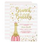 Brunch & Bubbly Bridal shower invitation Pink Gold