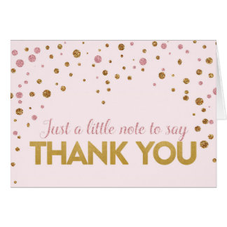 Brunch & Bubbly Glitter Thank You Note Card