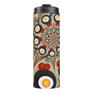 Brunch, Fractal Art for Kitchens and Dining Rooms Thermal Tumbler