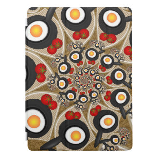Brunch Fractal Art Funny Food, Tomatoes, Eggs iPad Pro Cover