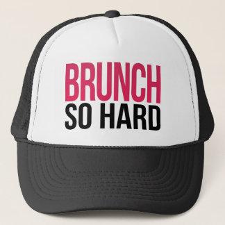 Brunch So Hard Magenta & Black Trucker Hat