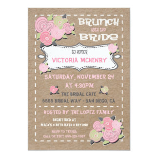 Brunch with the Bride Bridal Shower Invitations