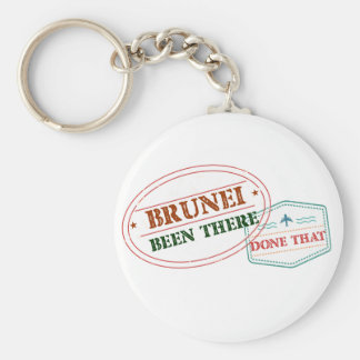 Brunei Been There Done That Basic Round Button Key Ring