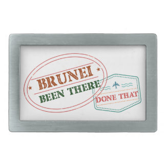 Brunei Been There Done That Rectangular Belt Buckle