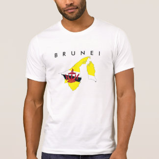brunei country flag map shape silhouette symbol tee shirt