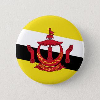 Brunei Flag 6 Cm Round Badge