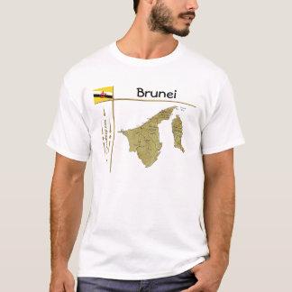 Brunei Map + Flag + Title T-Shirt
