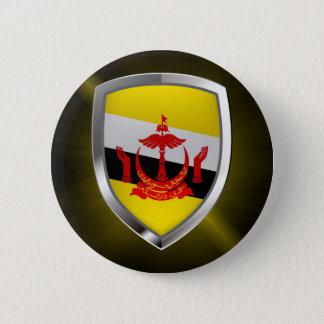 Brunei Metallic Emblem 6 Cm Round Badge