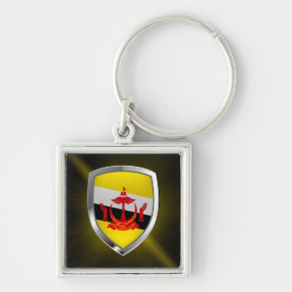Brunei Metallic Emblem Key Ring