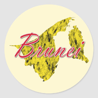 Brunei Round Sticker