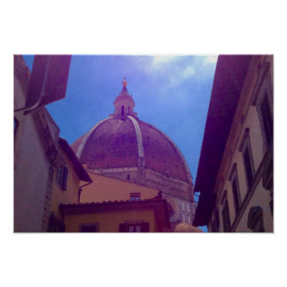 Brunelleschi Dome in Florence, Italy Poster