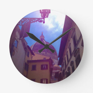 Brunelleschi Dome in Florence, Italy Round Clock