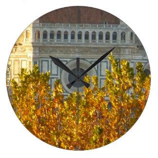 Brunelleschi's Dome in Fall Large Clock