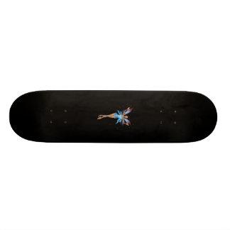 Brunette 3D Pixie - Purple & Blue Skateboard Deck