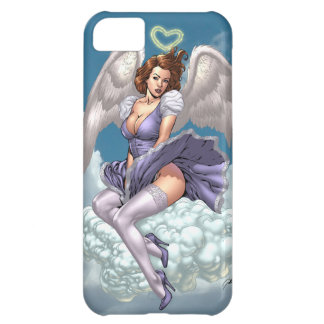 Brunette Angel Pinup with Heart Halo by Al Rio iPhone 5C Case