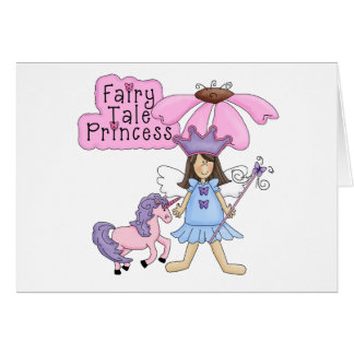 Brunette Fairy Tale Princess Greeting Cards