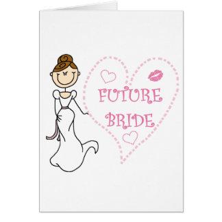 Brunette Future Bride Card