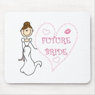 Brunette Future Bride Mouse Pad