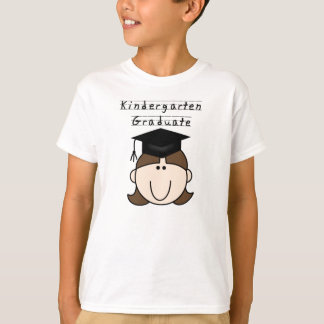 Brunette Girl Kindergarten Graduate T-Shirt