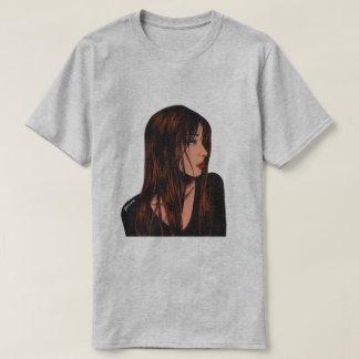 Brunette Girl Print Men's T-Shirt