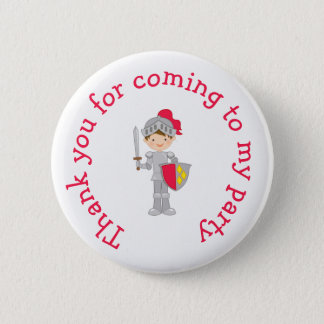 Brunette Knight 'Thank you for coming' 6 Cm Round Badge