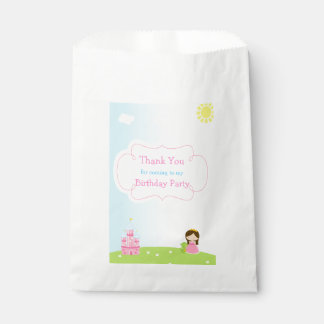 Brunette Princess Birthday Favour Bag