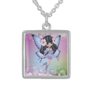 Brunette Princess Butterfly Necklace