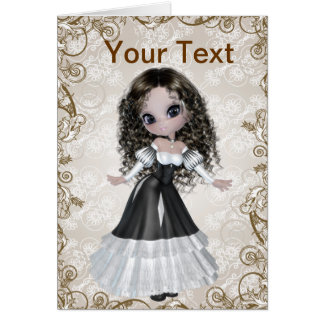 Brunette Princess Greeting Card