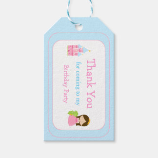 Brunette Princess Thank You Gift Tag